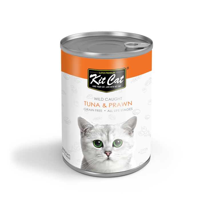 Kit Cat® Wild Caught - Atlantic Tuna with Prawn Grain Free 400g
