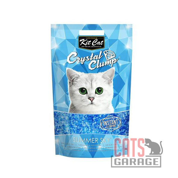 Kit Cat® Crystal Clump - Summer Sky Cat Litter 4L