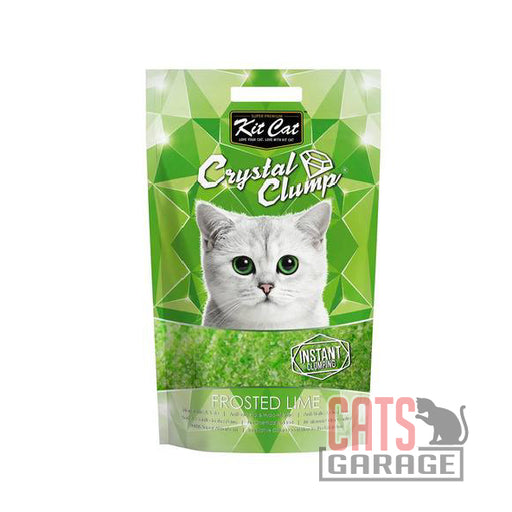 Kit Cat® Crystal Clump - Frosted Lime Cat Litter 4L