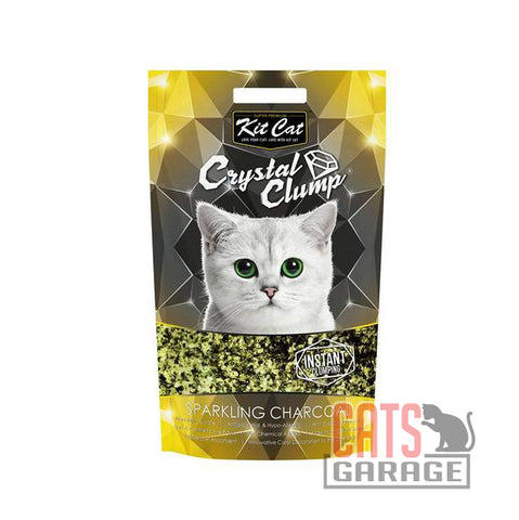Kit Cat® Crystal Clump - Sparkling Charcoal Cat Litter 4L