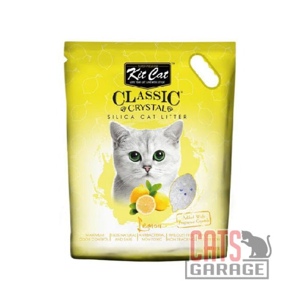 Kit Cat® Classic Crystal - Lemon Silica Cat Litter 5L