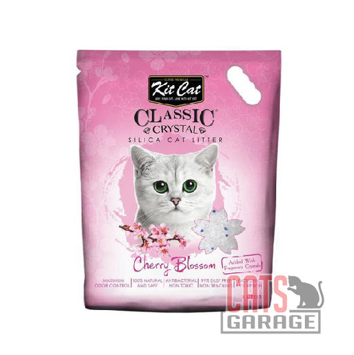 Kit Cat® Classic Crystal - Cherry Blossom Silica Cat Litter 5L