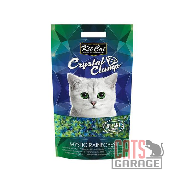 Kit Cat® Crystal Clump - Mystic Rainforest Cat Litter 4L