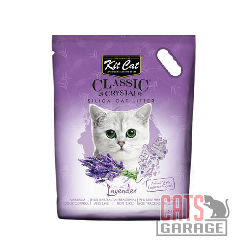 Kit Cat® Classic Crystal - Lavender Silica Cat Litter 5L