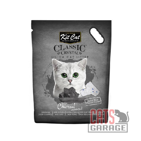 Kit Cat® Classic Crystal - Charcoal Silica Cat Litter 5L