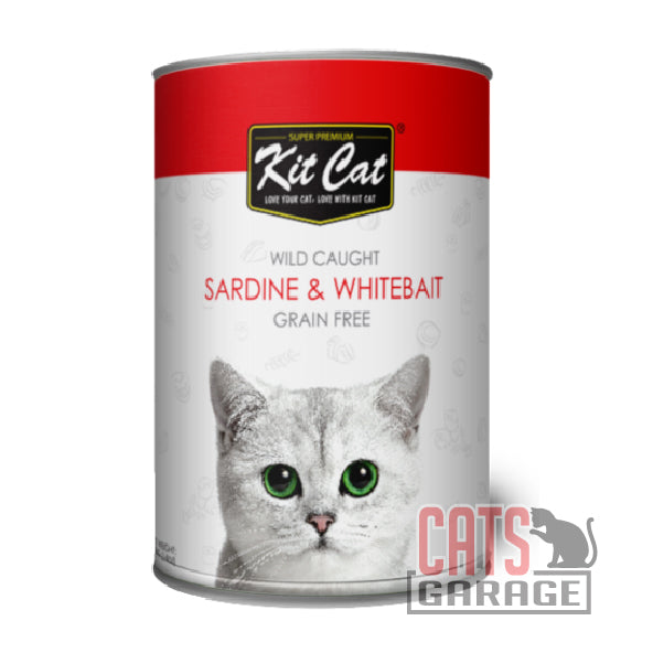 Kit Cat® Wild Caught - Sardine & WhiteBait Grain Free 400g