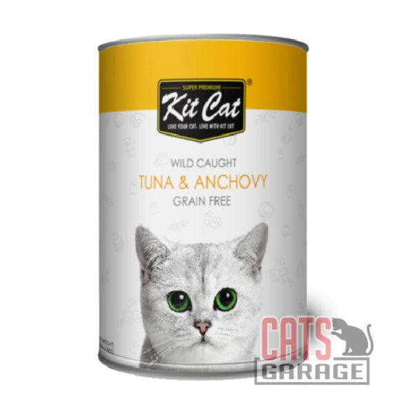 Kit Cat® Wild Caught - Tuna with whole Anchovy Grain Free 400g