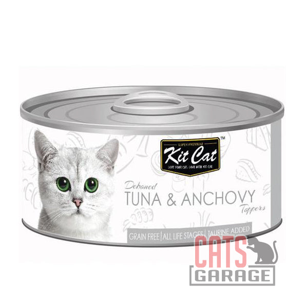 Kit Cat® - Deboned Tuna & Anchovy Toppers 80g