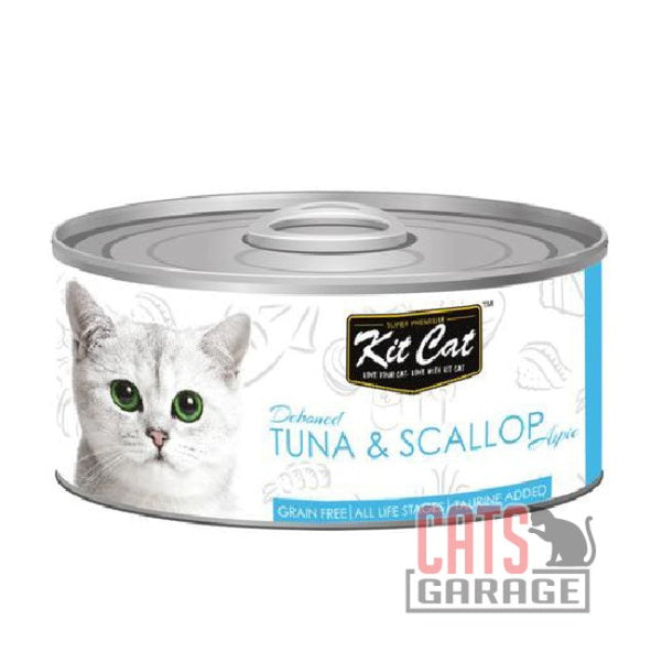Kit Cat® - Deboned Tuna & Scallop Aspic 80g