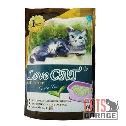 Love Cat® Cat Litter - Green Tea 6L