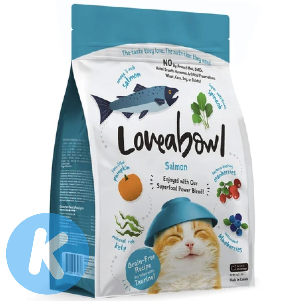 Loveabowl - Salmon Grain Free Cat Dry Food (3 Sizes)