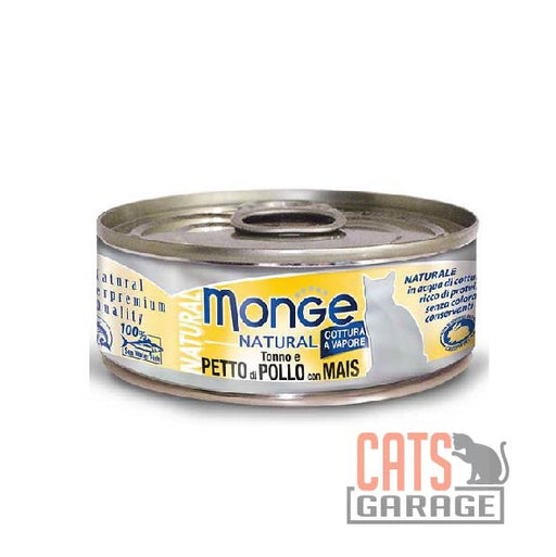Monge Natural - Tuna & Chicken With Corn 80g