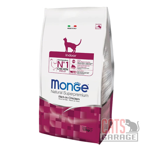 Monge Natural Superpremium - Indoor Rich in Chicken (2 Sizes)
