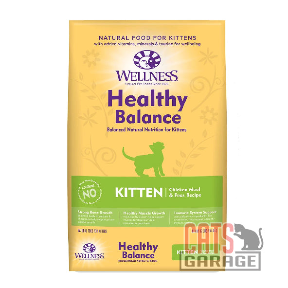 Wellness Healthy Balance - Kitten Chicken Meal & Peas Recipe (2 Sizes)