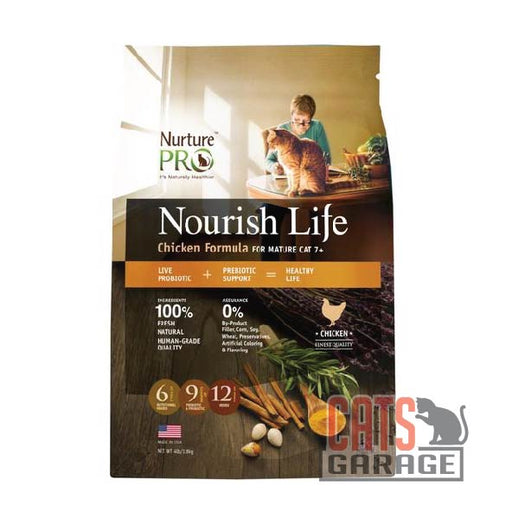 Nurture Pro Nourish Life - Chicken Formula For Cat Mature 7+ (3 Sizes)