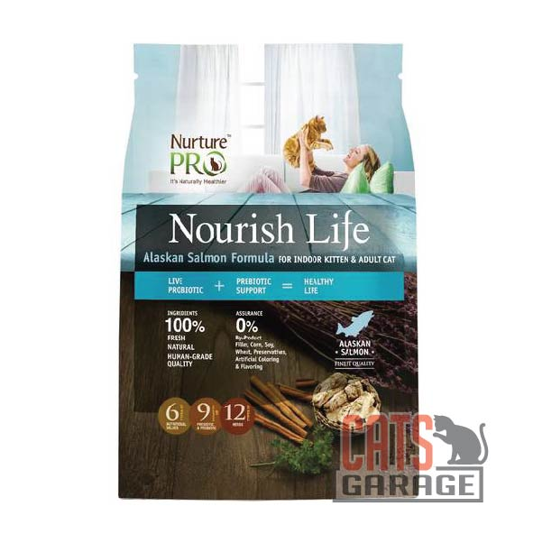 Nurture Pro Nourish Life - Alaskan Salmon Formula For Indoor Kitten & Adult (3 Sizes)