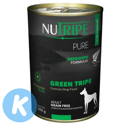 Nutripe - Pure Green Tripe Dog Wet Food 390g (6 Cans)
