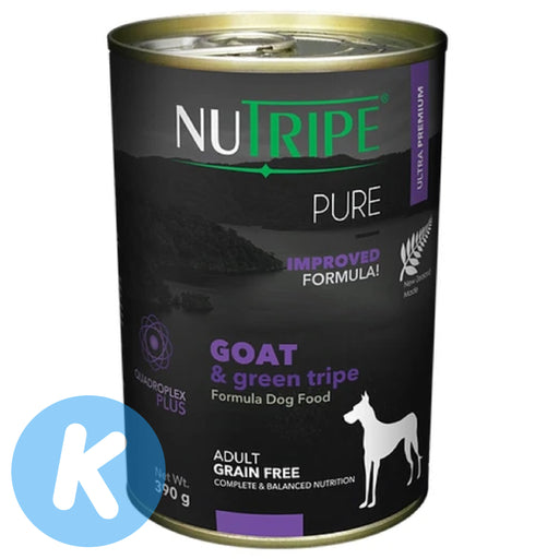 Nutripe - Pure Goat & Green Tripe Dog Wet Food 390g (6 Cans)