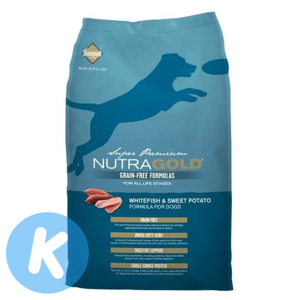 NutraGold - Grain Free Whitefish & Sweet Potato Dry Dog Food (2 Sizes)