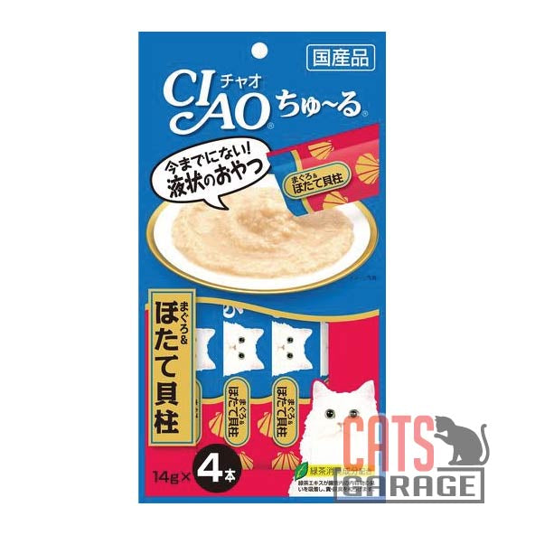 CIAO® Chu Ru - White Meat Tuna and Scallop 14g X4pcs