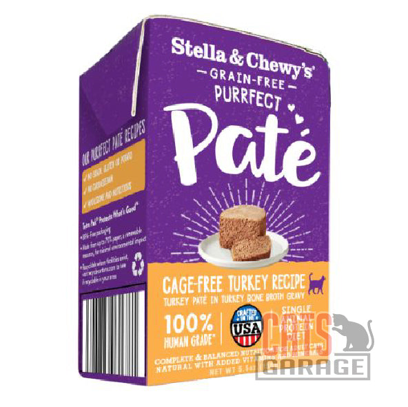 Stella & Chewy's - Grain Free Purrfect Pate / Cage-Free Turkey Recipe