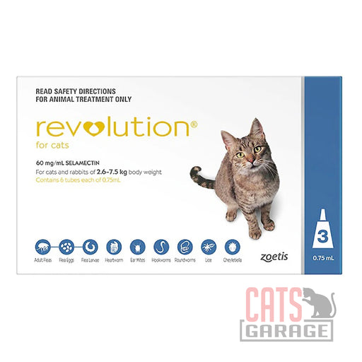 Revolution for Cats 2.6kg to 7.5kg (3pcs)