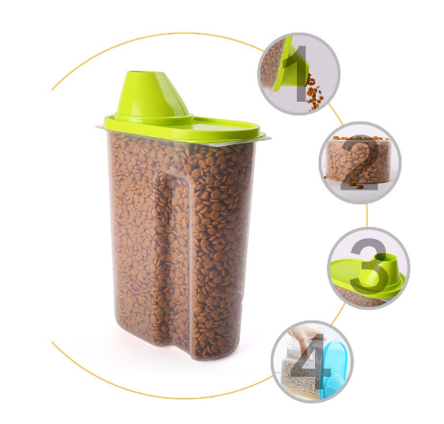 Pet Food Container 2.5L (1.3KG)(Color Random)