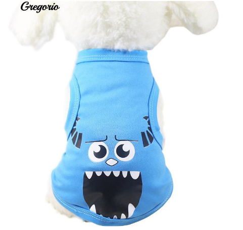 Cartoon Design Vest Spring Costume Apparel - BLUE