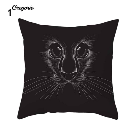 Funny 3D Cat Eyes Pillow Case Cushion Cover - #1