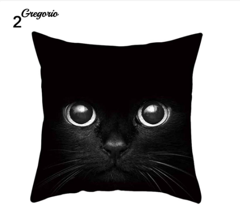 Funny 3D Cat Eyes Pillow Case Cushion Cover - #2