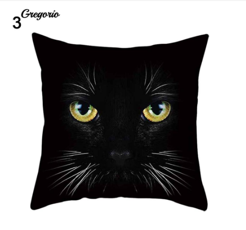 Funny 3D Cat Eyes Pillow Case Cushion Cover - #3