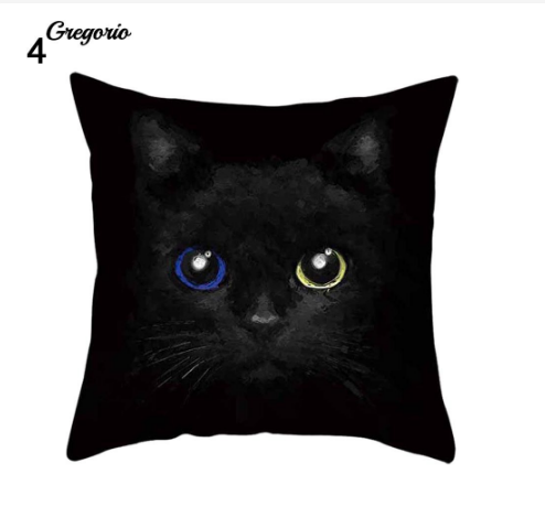 Funny 3D Cat Eyes Pillow Case Cushion Cover - #4