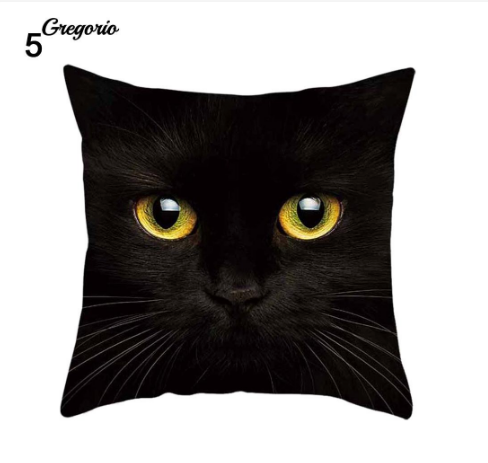 Funny 3D Cat Eyes Pillow Case Cushion Cover - #5