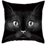 Funny 3D Cat Eyes Pillow Case Cushion Cover - #7