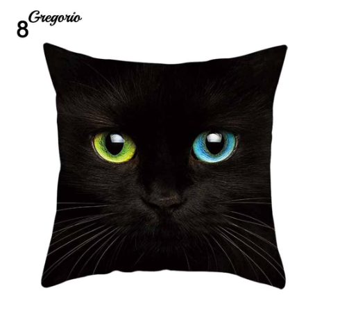 Funny 3D Cat Eyes Pillow Case Cushion Cover - #8