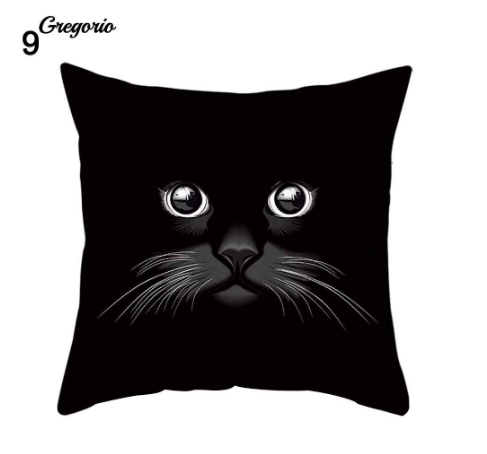 Funny 3D Cat Eyes Pillow Case Cushion Cover - #9