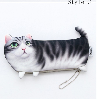 Cat Stationery Pencil Pen Cases - #C