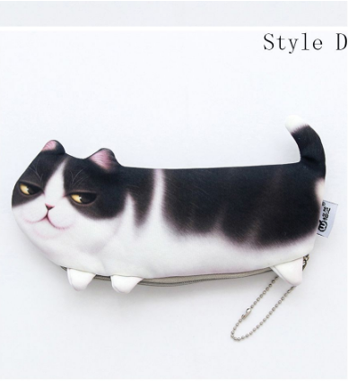 Cat Stationery Pencil Pen Cases - #D