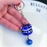Cute Fortune Maneki Keychain with Bell - BLUE