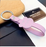 Cat PU Leather Key Rope Keychain Lanyard - PINK