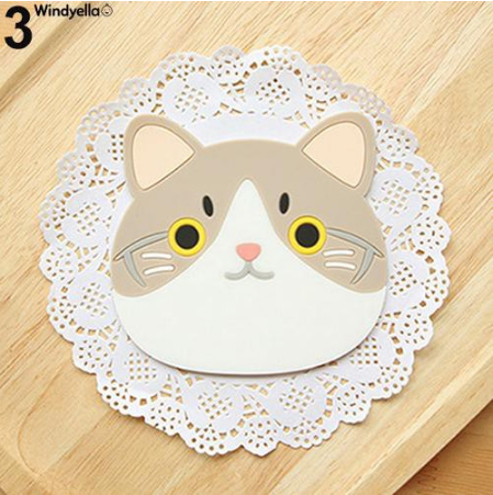 Cat Shaped Tea Silicon Coaster Pad - #3