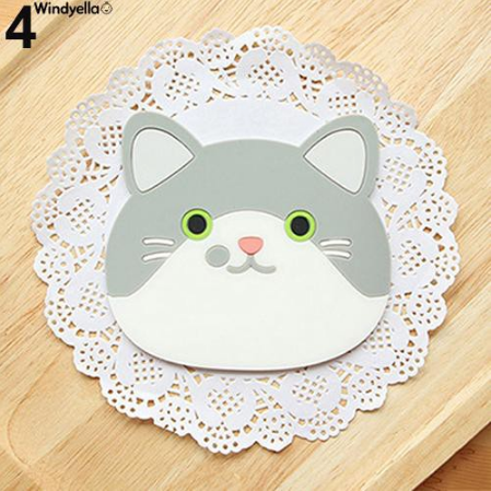 Cat Shaped Tea Silicon Coaster Pad - #4