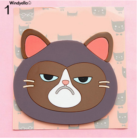 Cat Shaped Tea Silicon Coaster Pad - #1