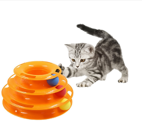 Pet Puzzle Play Track Tower Cat Toy Tray