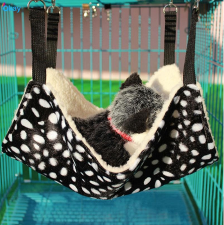 Kitten Hammock - BLACK & WHITE DOT