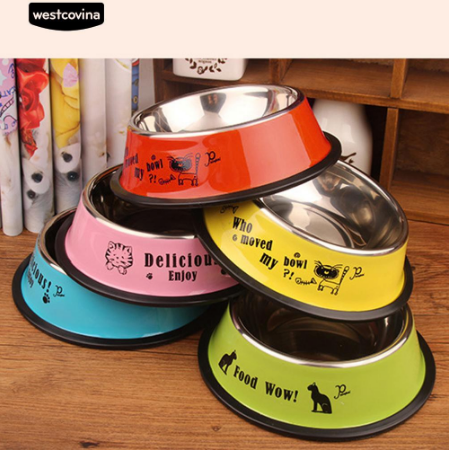 Stainless Steel Anti-Skid Food Water Bowl