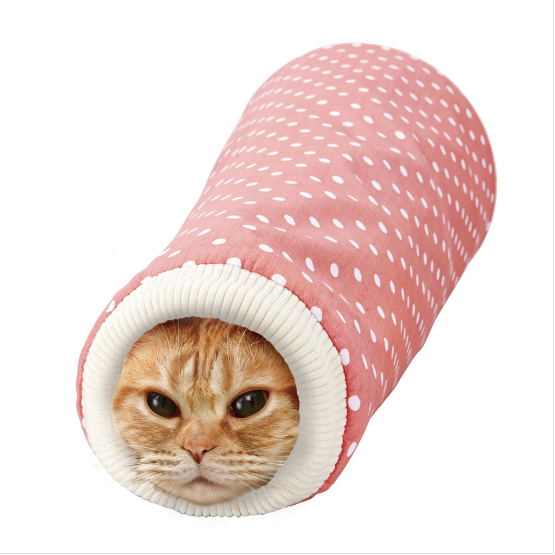 Marukan Sleeve Shaped Tunnel For Cats - Pink