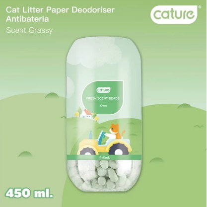 Cature® -  Grassy Fresh Scent Beads Cat Litter Deodoriser 450ml