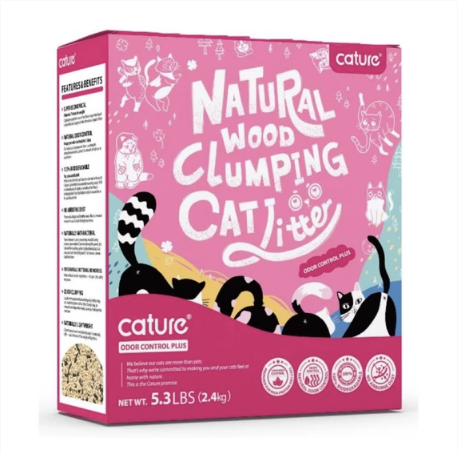 Cature® - Odour Control Plus Natural Wood Clumping Cat Litter (2 Sizes)