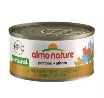 Almo Nature - HFC Natural Chicken & Cheese 70g (24 Cans)